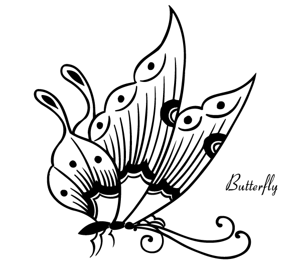Vector Butterfly Image