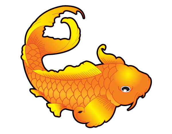 Japanese Koi Fish Vector Art