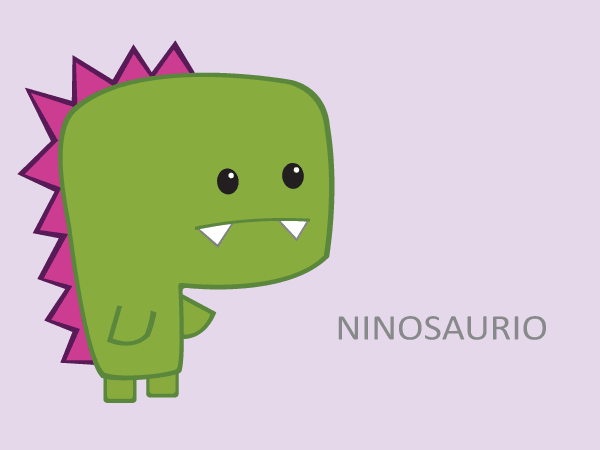 Vector Green Dinosaur Cartoon Character