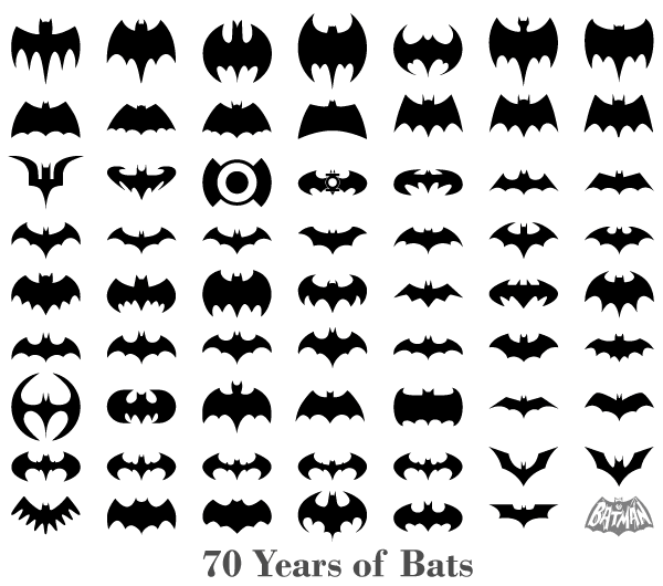 70 Years of Bats – Vector Bats Silhouettes