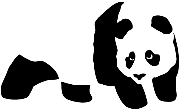 Panda Bear Stencil Vector Art