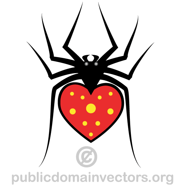 Heart Spider Vector Image