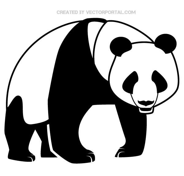 panda bear silhouette image  download free vector art