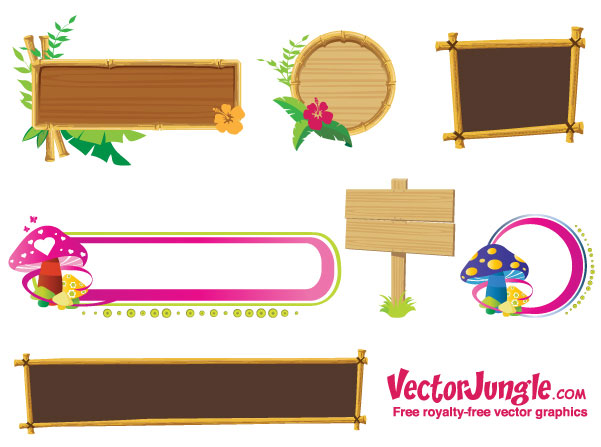 Banners And Frames Vector