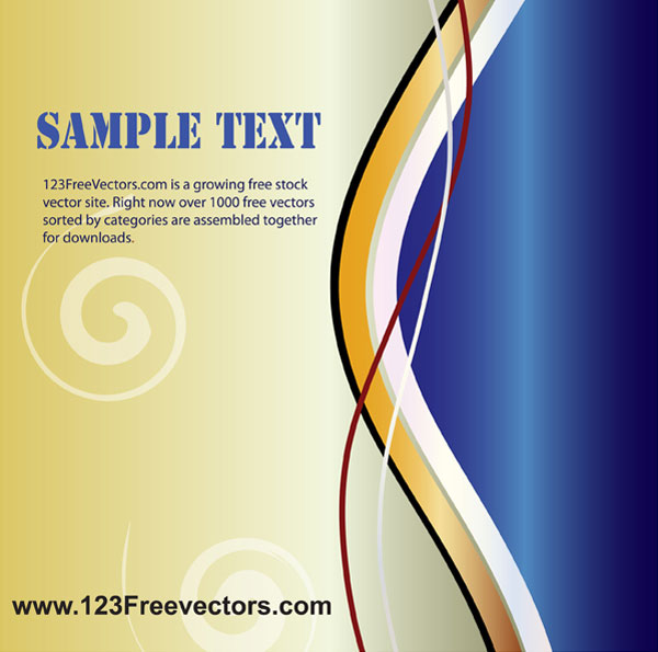 Wave Page Layout Vector