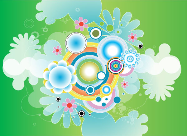 Colorful Green Design Vector Graphic