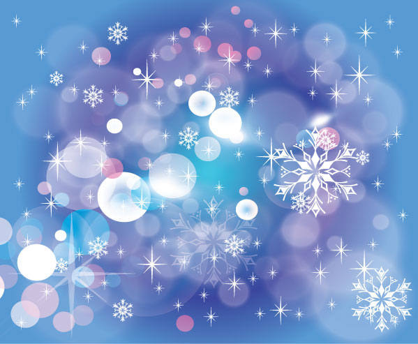 Winter Blue Dark Design Vector Background
