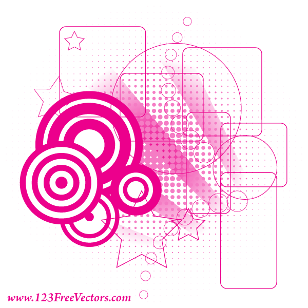 Retro Pink Background Vector