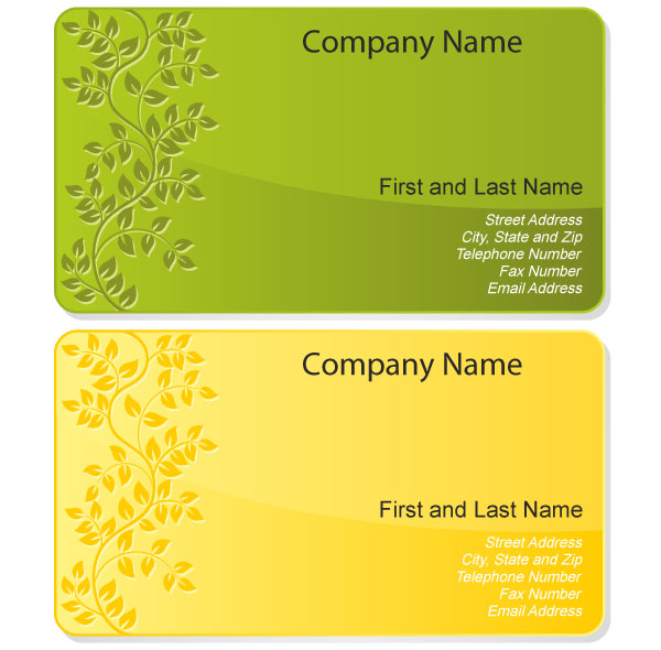 Free Floral Design Business Card Template Vector Download Free - Download free business card template