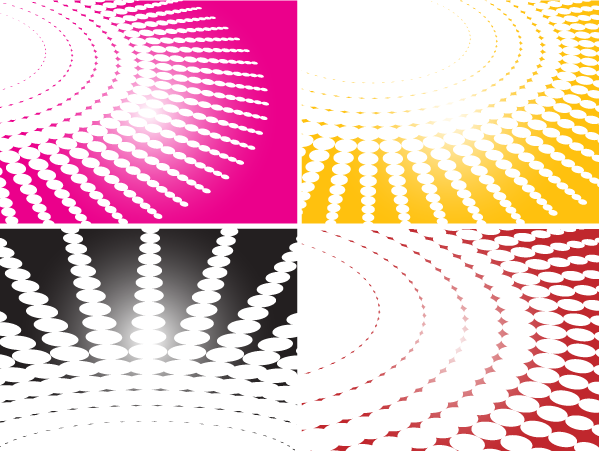 Spiral Halftone Background Vector Illustration