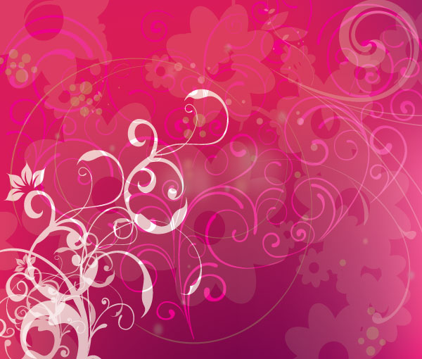 pink background with swirls vector design