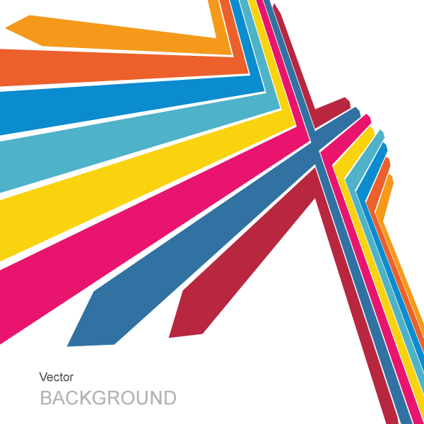 Color Arrows Background Design Vector
