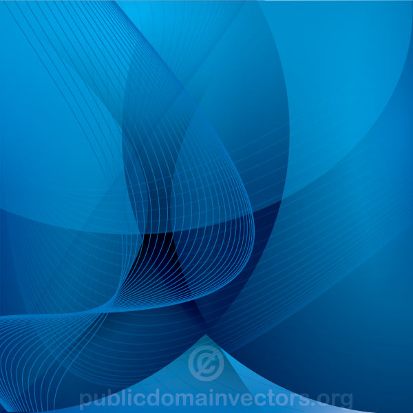 Abstract Blue background Design with Flowing Lines Vector