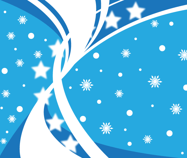Blue Winter Background with Snowflake Vector