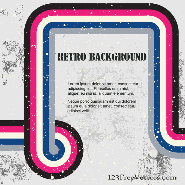 Retro Background Illustration