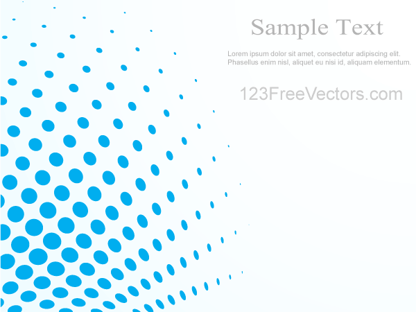 Abstract Blue Halftone Background Vector Illustrator
