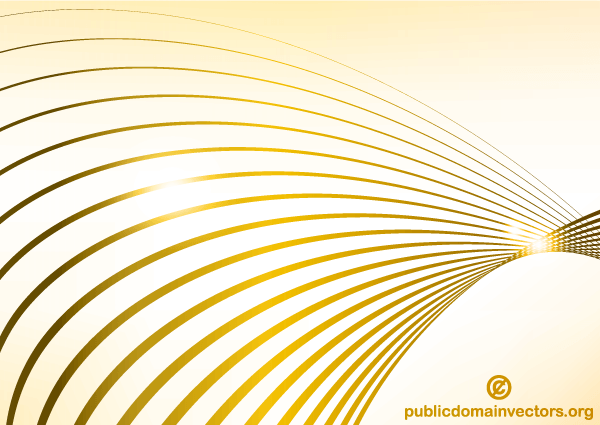 Abstract Golden Wave Line Background