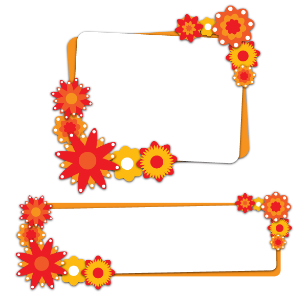Flower Banners Free Vector Illustration