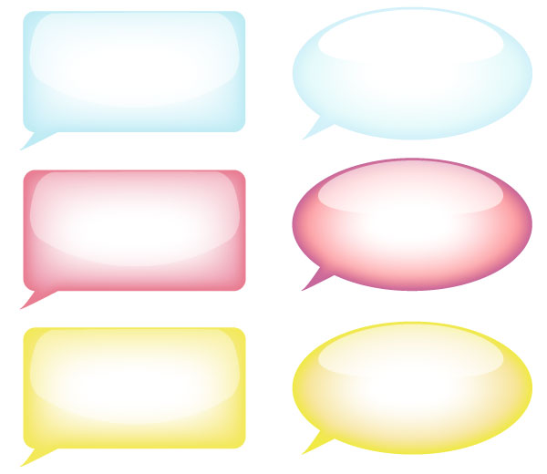 Speech Bubble Free Vector Resource