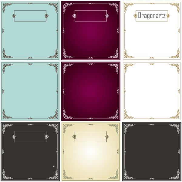 Vector Ornament Swirl Border Design Frames