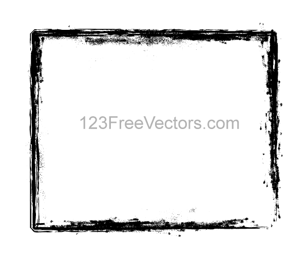 Grunge Brush Stroke Frame Vector Illustrator