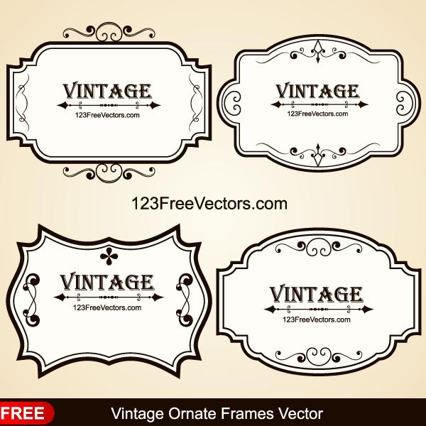 6d830d9ed59 Vintage Ornate Frames Vector