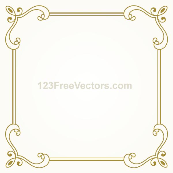 Vintage Gold Frame Design Vector Graphics | Download Free Vector Art ...