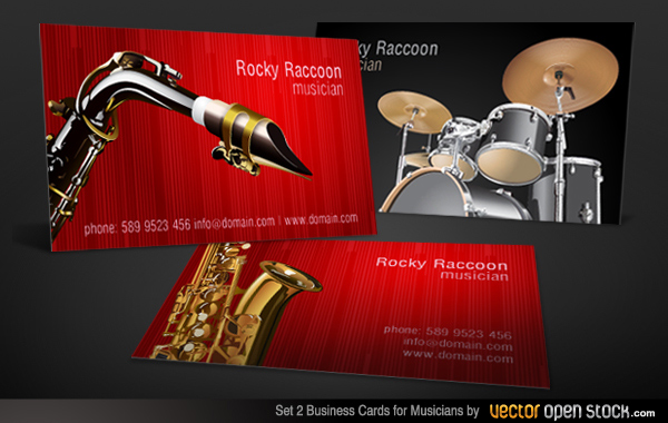 Vector musicians business cards designs set 2 download free vector musicians business cards designs set 2 reheart Image collections