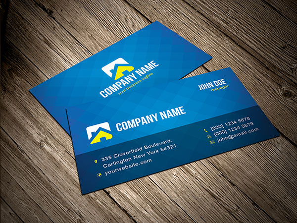 Free blue business card template vector download free vector art free blue business card template vector reheart Gallery