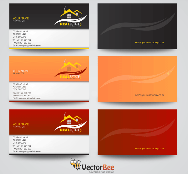 Real estate business card vector designs download free vector art real estate business card vector designs reheart
