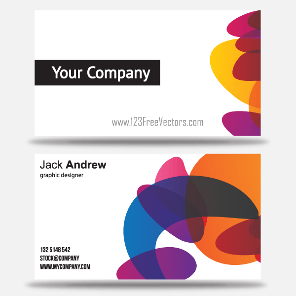 free colorful business card templates download free vector art free vectors. Black Bedroom Furniture Sets. Home Design Ideas