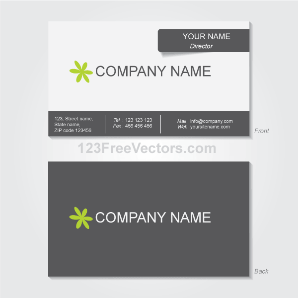 Business Card Template Vector Download Free Vector Art Free - Business card template illustrator