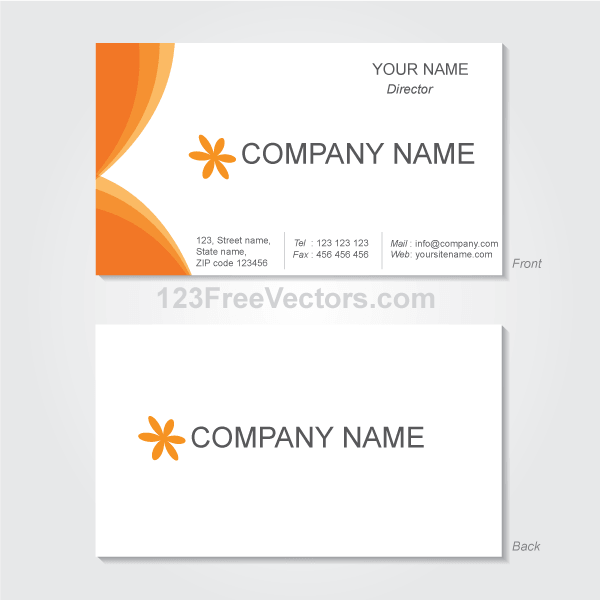 Vector graphics business card template download free vector art vector graphics business card template fbccfo Images