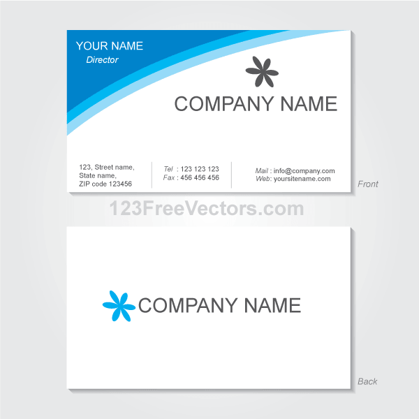 Vector Visiting Card Design Template