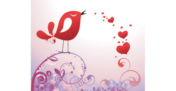 Stock Postal To The Day Of Valentinevector