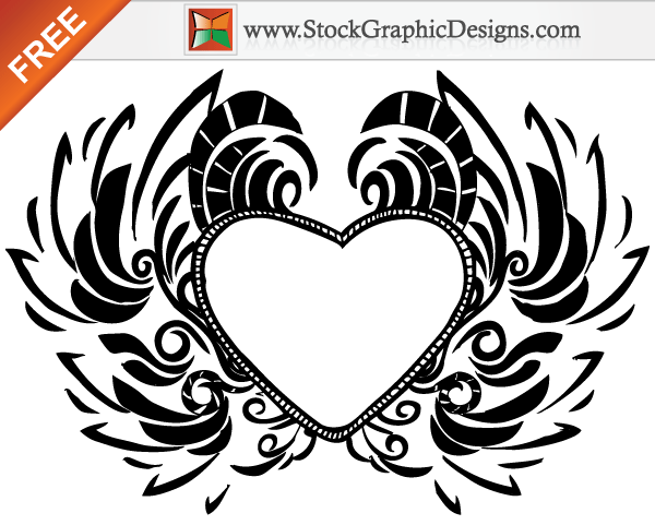 Free Hand Drawn Valentine's Day Love Heart Vector