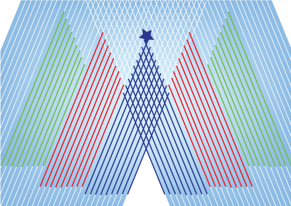 Free Vector Christmas Tree with Lines