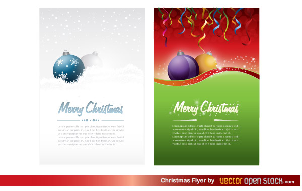 Christmas Flyer Template Free Vector | Download Free Vector Art ...
