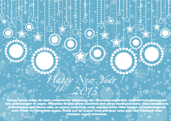 Happy new year 2013 blue card vector illustration download free happy new year 2013 blue card vector illustration m4hsunfo