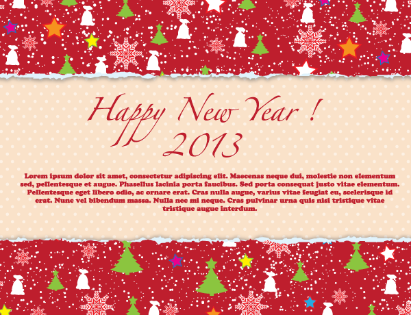 Happy new year 2013 red greeting card download free vector art happy new year 2013 red greeting card m4hsunfo