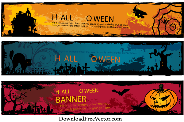 Halloween Banners Vector Free Download Download Free