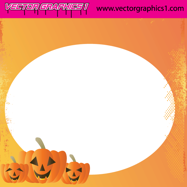 Halloween Greeting Card Vector Free
