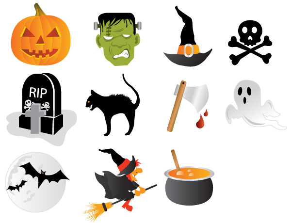 halloween icons free vector download free vector art free vectors rh free vectors com halloween vectors free halloween vector graphics