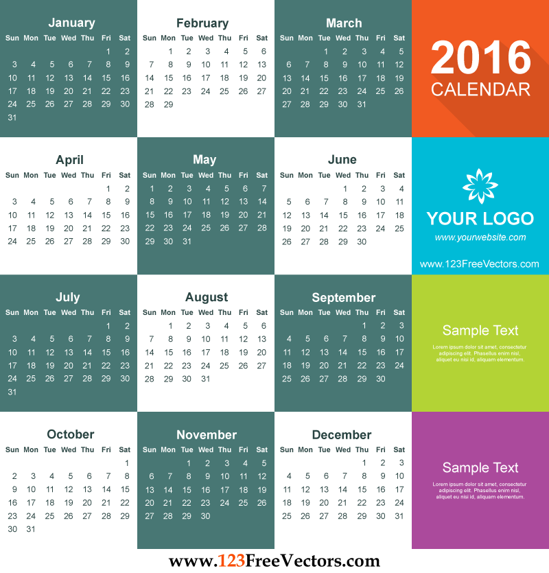 Calendar Design Templates Free Download : Calendar template free download