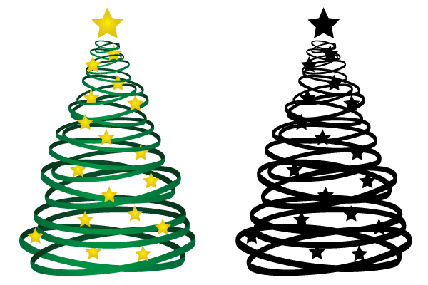 Christmas Tree Vector.Ribbon Christmas Tree Vector Download Free Vector Art