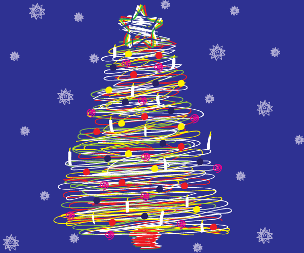 Vector Scribble Christmas Tree