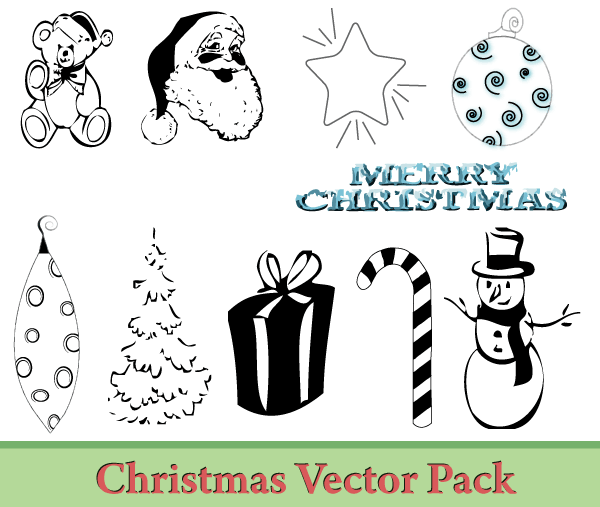 Christmas Vector Illustrator Pack