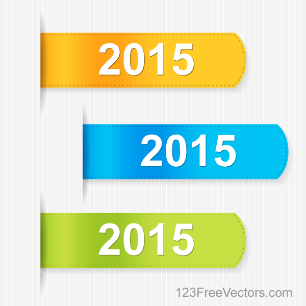2015 Labels – Stickers Vector Set Free