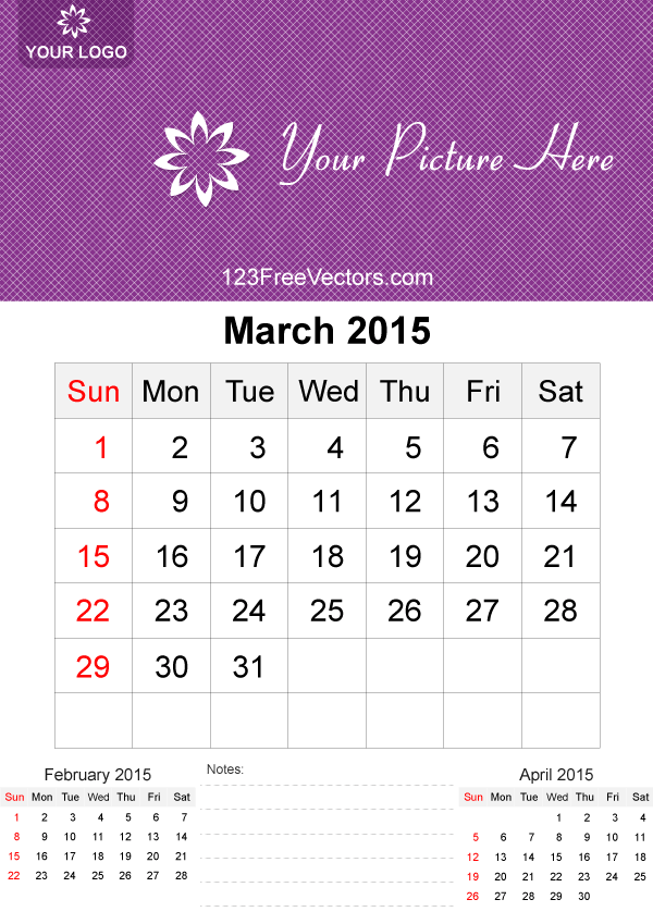 March 2015 Calendar Template Vector Free Download Free Vector Art