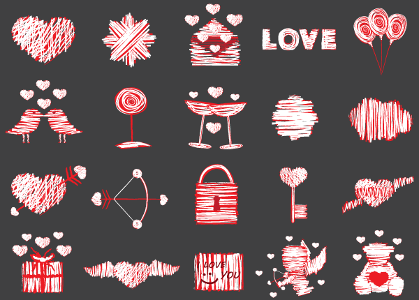 Love Vector Elements Illustrator Pack